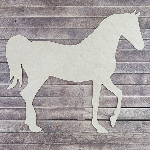 Horse Shape, Wood Craft Cutout Paintable MDF Design 2