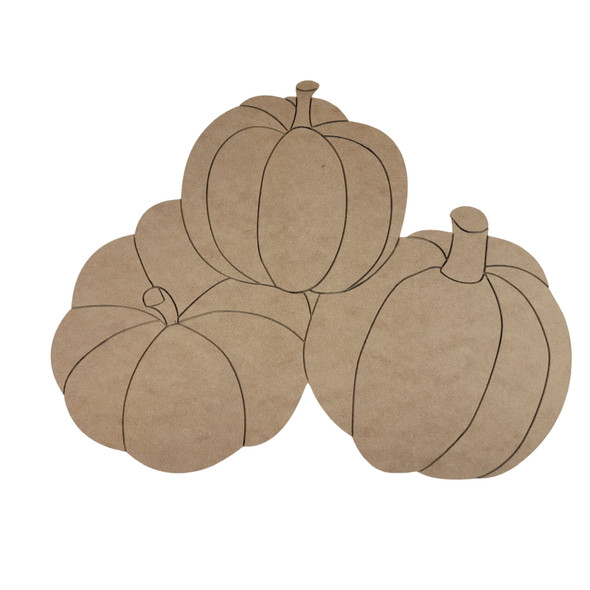 Fall Stacked Pumpkins, Paint by Line, Wood Craft Cutout