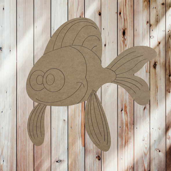 Cross-eyed fish, Unfinished Craft, DIY Art, Paint By Line
