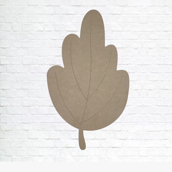 Maple leaf, Unfinished Wood Cutout, Paint by Line