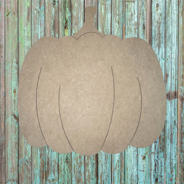 Fall Pumpkin, Unfinished Wood Cutout, Paint by Line
