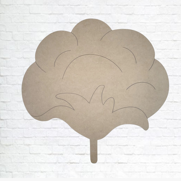 Cotton Pickin', Unfinished Wood Cutout, Paint by Line