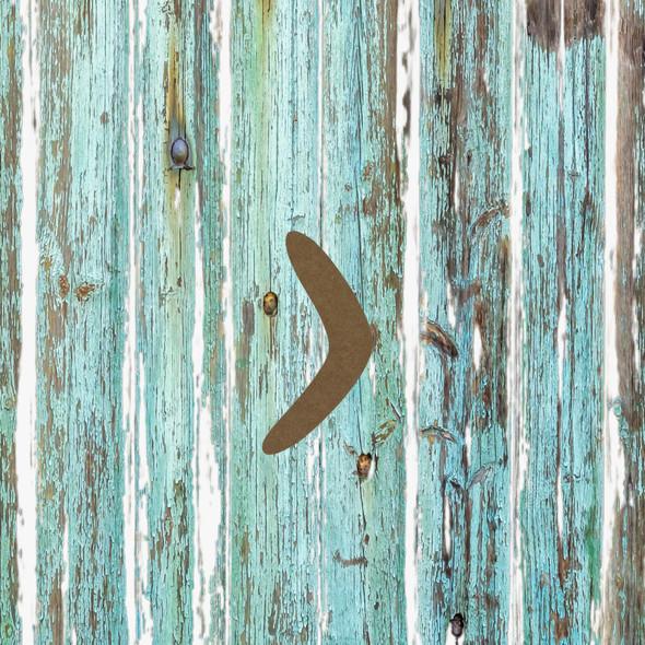 Boomerang, Unfinished Wood Cutout