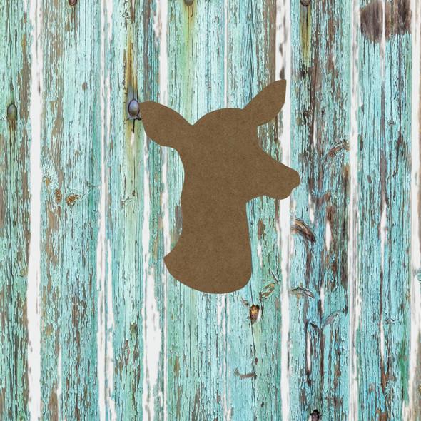 Doe Head, Unfinished Wood Cutout
