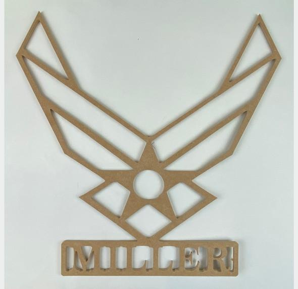 Custom Air Force Name Frame, Wooden Craft Cutout