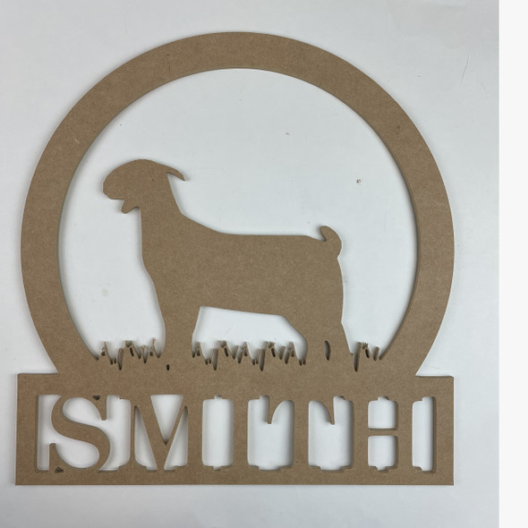 Goat 2 Frame Family Welcome Sign, Unfinished MDF