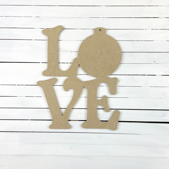 Love With Ornament Sign