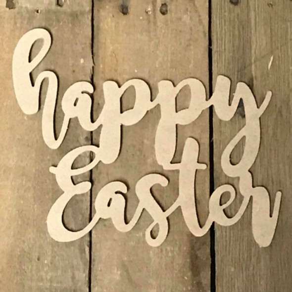 Happy Easter Unfinished Script Word