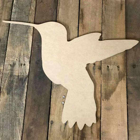 Humming Bird, Wood Cutout, Shape