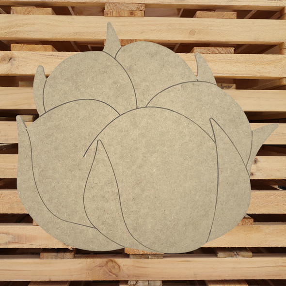 Cotton Pickin' Boll, Unfinished Wooden Craft Cutout