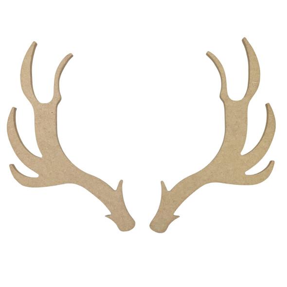 Large Elk Antlers, Unfinished Wooden Craft Shape