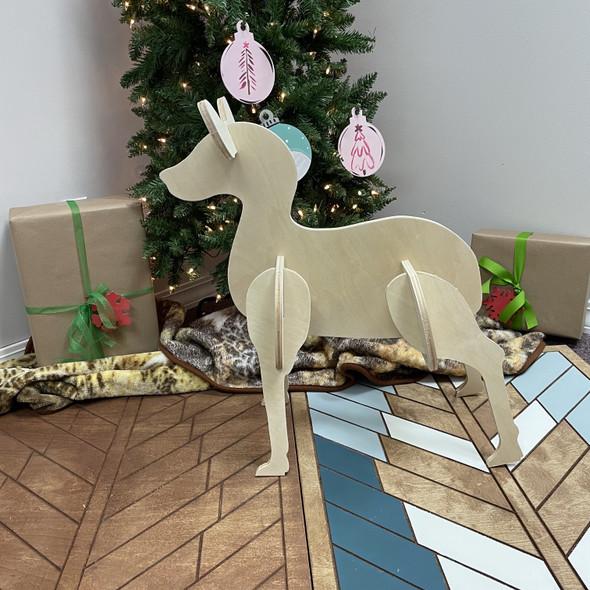 Reindeer Yard Art (Standing Baby Doe) 1/2'' Pine Christmas Decor