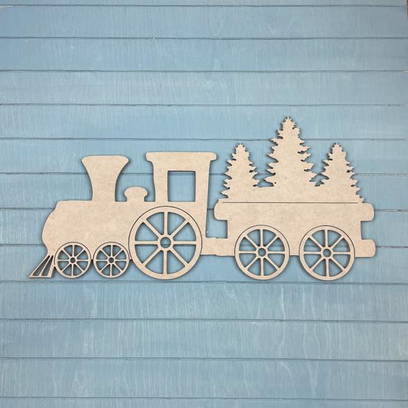 Christmas Train, Unfinished MDF Craft Shape