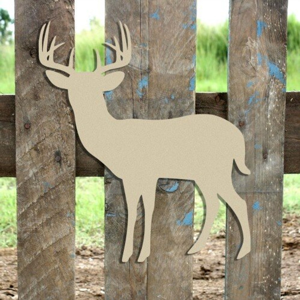10 Point Buck Unfinished Cutout Paintable MDF DIY Craft