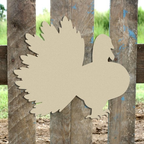 Indian Turkey Unfinished Cutout, Wooden Shape, Paintable Wooden MDF