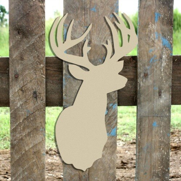 12 Point Buck Unfinished Cutout