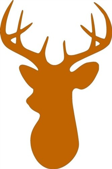8 Point Buck Unfinished Cutout Paintable MDF DIY Craft