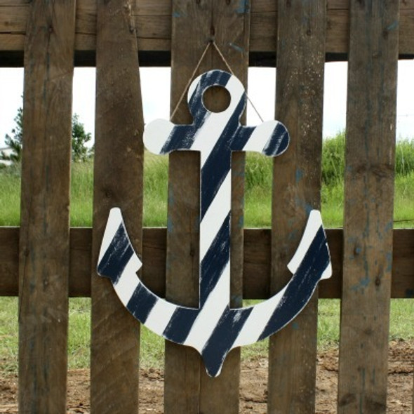 Anchor Unfinished Cutout, Wooden Shape, Paintable Wooden MDF DIY Craft