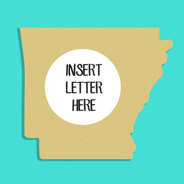 Arkansas Frame Letter Insert Wooden Monogram  Unfinished DIY Craft