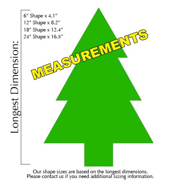 Army Pine Tree Unfinished Cutout measurements