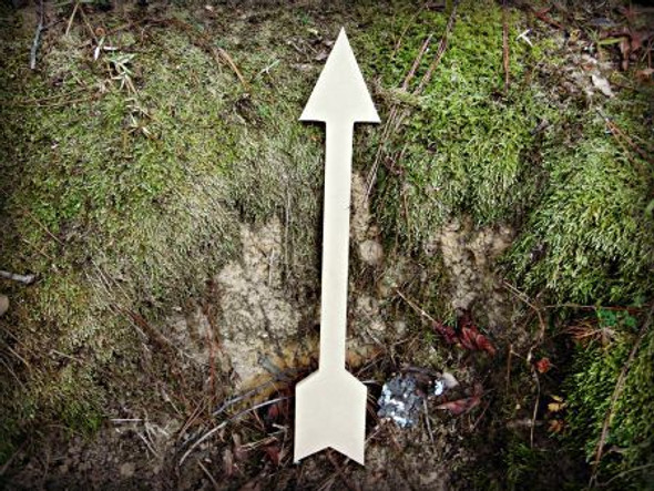 Arrow 3 Unfinished Cutout, Wooden Shape, Paintable Wooden MDF DIY