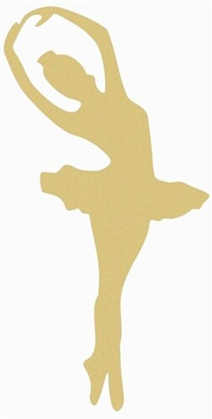 Ballerina Unfinished Cutout