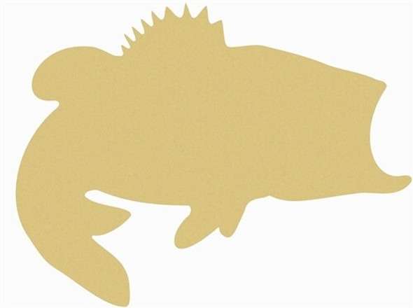 Bass Unfinished Cutout Paintable Wooden MDF DIY Craft