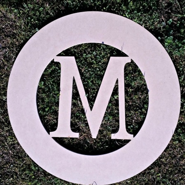 Baseball Framed Monogram  Letter,Frame Wooden - Unfinished  DIY Craft