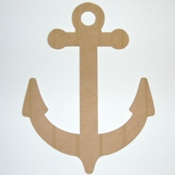 Wood Anchor Cutout Beadboard Shape Paintable MDF DIY Craft