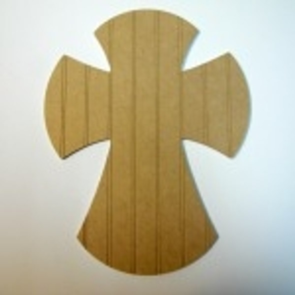 Unfinished Wooden Cross 24 Beadboard  Paint-able Wall Hanging