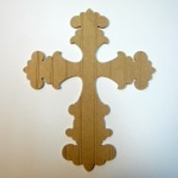 Unfinished Wooden Cross 36 Beadboard  Paint-able Wall Hanging Stackable