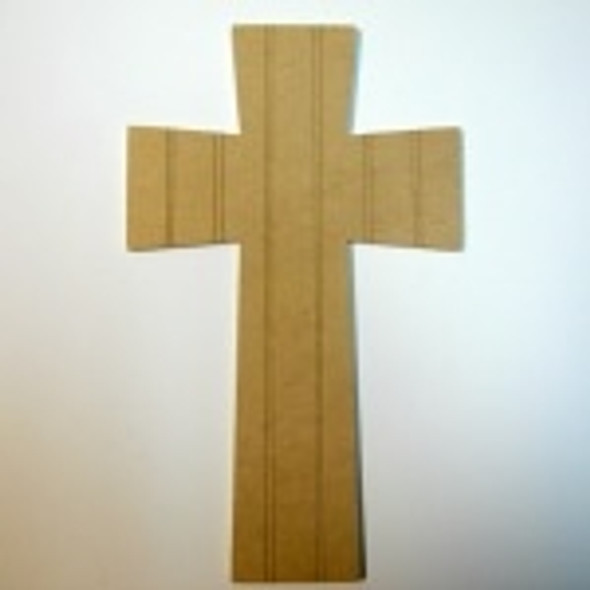 Unfinished Wooden Cross 43 Beadboard Paintable Wall Hanging Stackable
