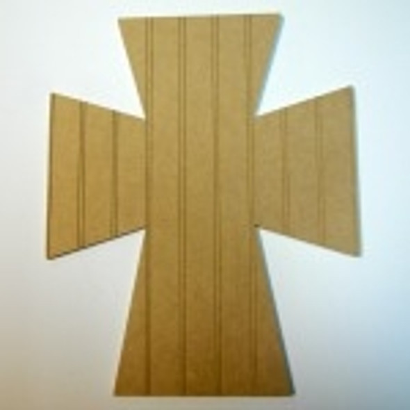 Unfinished Wooden Cross 45 Beadboard  Paint-able Wall Hanging Stackable