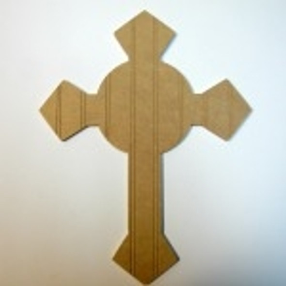 Unfinished Wooden Cross 5 Beadboard Paint-able Wall Hanging Stackable