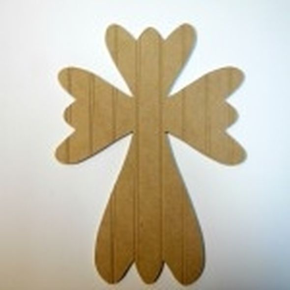 Unfinished Wooden Cross 51 Beadboard Paint-able Wall Hanging Stackable