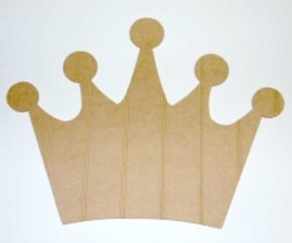 Wooden Crown Cutout Beadboard Shape Paintable MDF DIY Craft