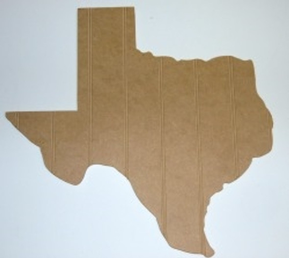 Wood State Texas Unfinished Beadboard, Paintable  MDF DIY Craft