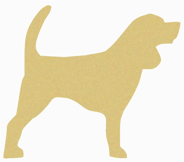Beagle Unfinished Cutout, Wooden Shape, Paintable Wooden MDF DIY Craft