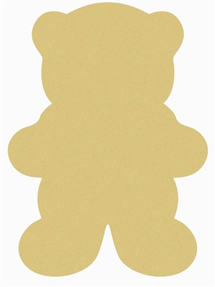 Bear Unfinished Cutout, Wooden Shape, Paintable Wooden MDF DIY Craft