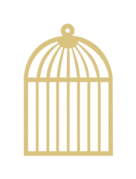 Bird Cage Unfinished Cutout, Wooden Shape,  Paintable MDF DIY Craft