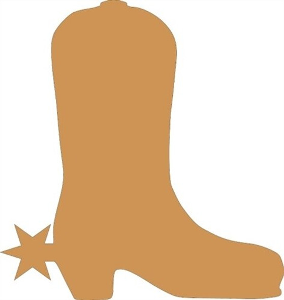 Boot With Star Unfinished Cutout
