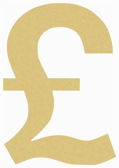 British Pound Unfinished Cutout, Wooden Shape, Paintable DIY Craft