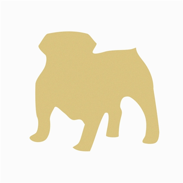 Bulldog Unfinished Cutout, Wooden Shape, Paintable Wooden DIY Craft