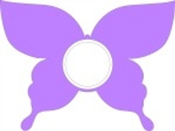 Butterfly Frame Letter Insert Wooden Monogram Unfinished DIY Craft