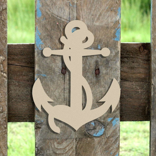 Anchor with Rope Unfinished Cutout