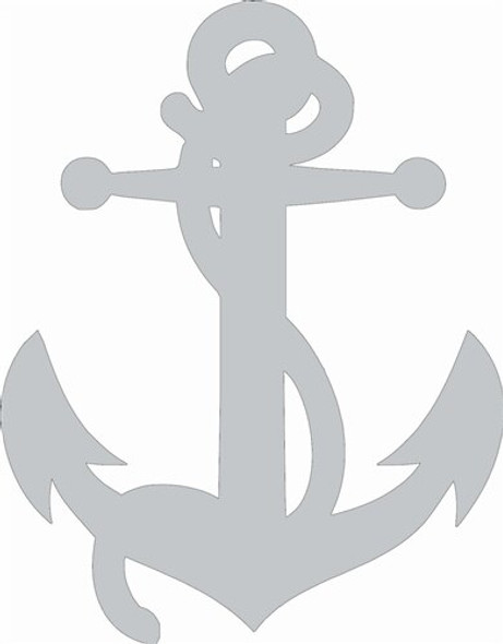 Anchor with Rope Unfinished Cutout Paintable Wooden