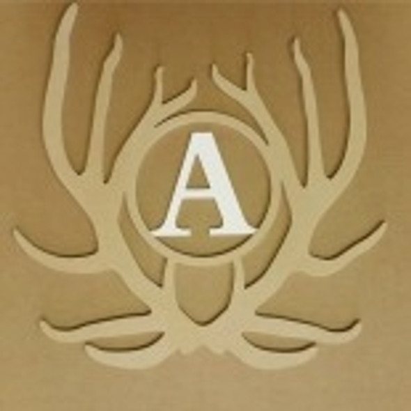Antler Monogram Elk Insert Unfinished DIY Craft