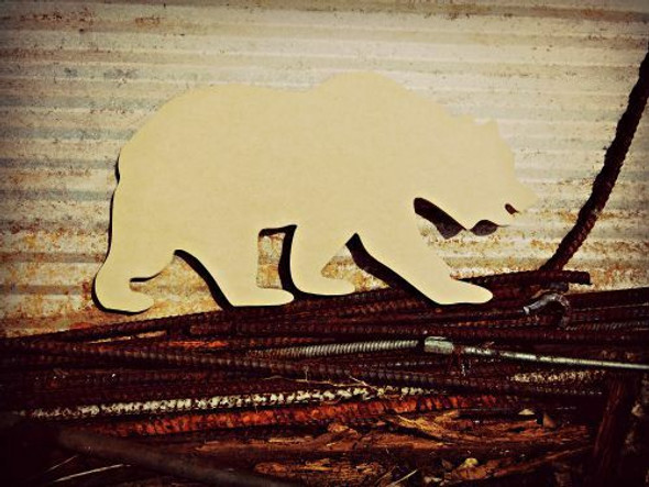 Grizzly Bear Unfinished Cutout