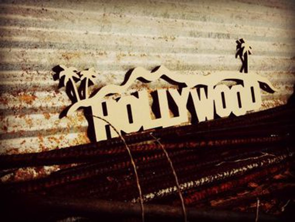 Hollywood Hills Unfinished Cutout, Wooden Shape, MDF DIY Craft