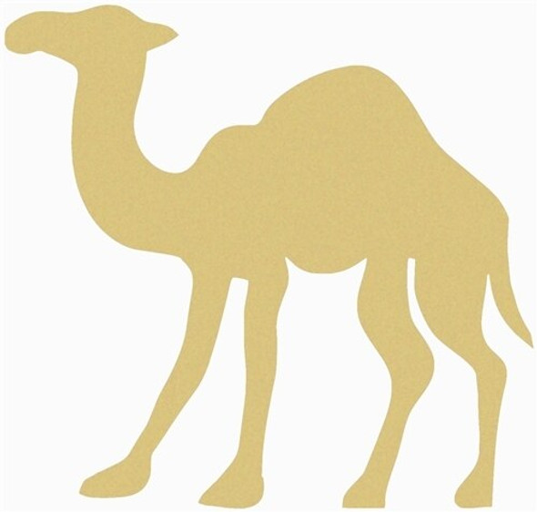 Camel Unfinished Cutout Paintable Wooden MDF DIY Craft